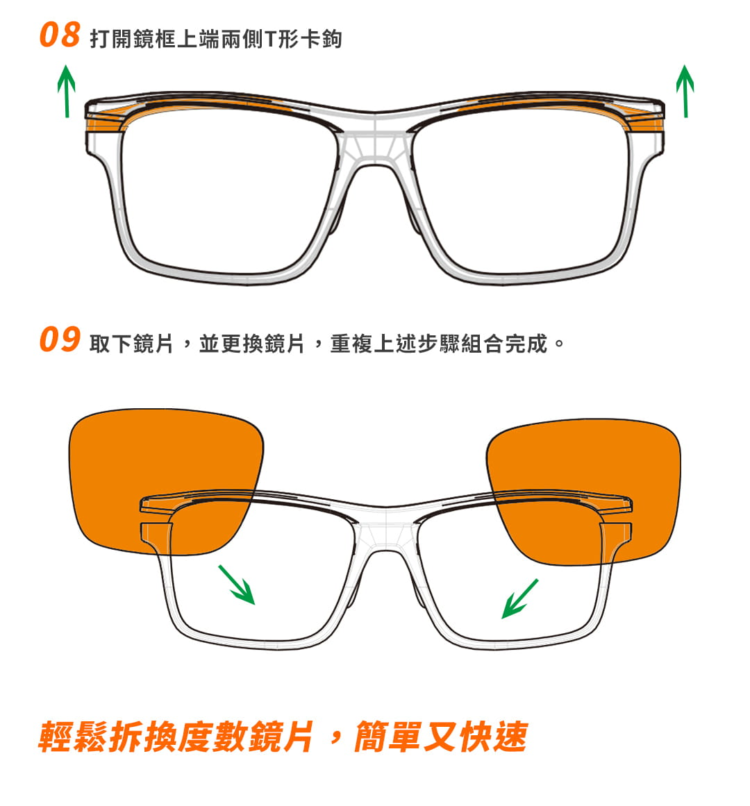 SABLE黑貂光學-專屬球類運動眼鏡CP-823(標準款-無保護墊)+SP-03(平光精緻鍍膜鏡片) 6