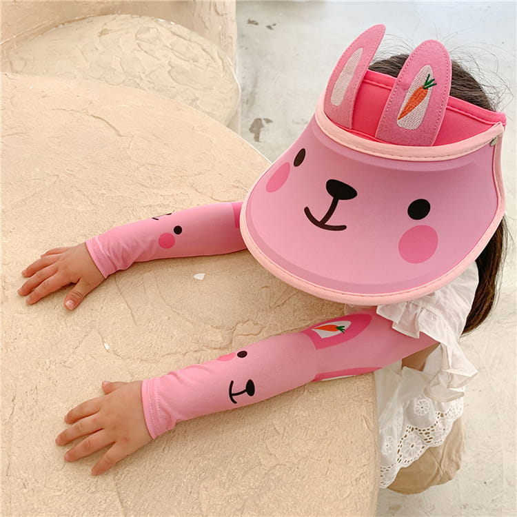 【JAR嚴選】兒童涼感防曬遮陽帽 (送袖套) 16