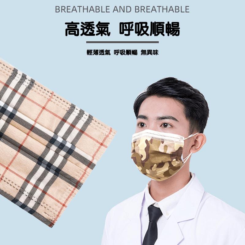 【格紋口罩】 三層防護熔噴布 3
