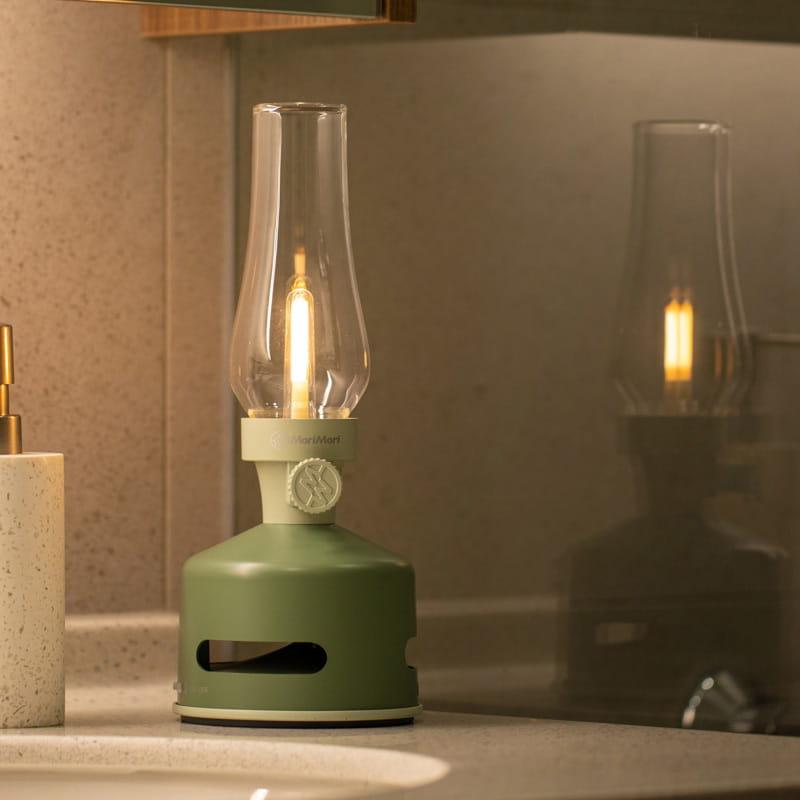 【MoriMori】戶外露營 LED煤油燈藍牙音響-淺綠色
