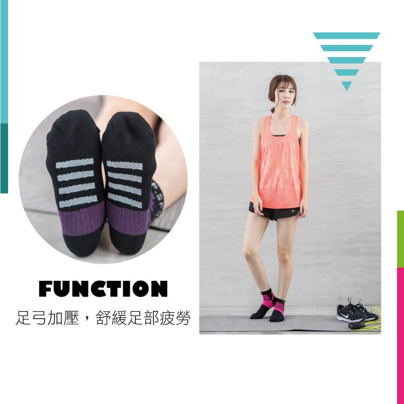 【Peilou】左右腳輕量護足足弓襪(船襪/短襪)(女) 11