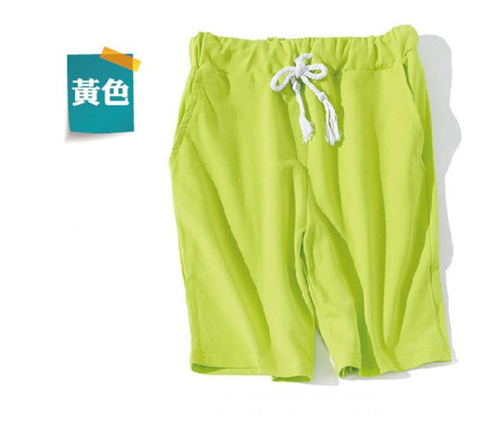 棉質休閒運動短褲 薄款透氣 抽繩男女款 舒適健身褲 16