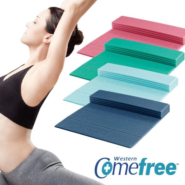 Comefree羽量級TPE摺疊瑜珈墊 0
