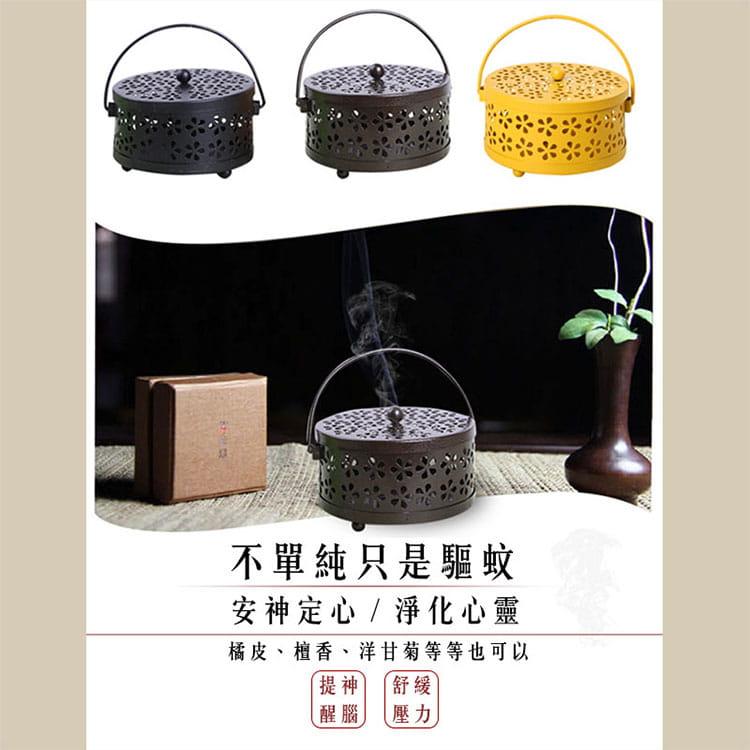 【JAR嚴選】帶蓋安全古典雅致風香薰盒蚊香盒 4