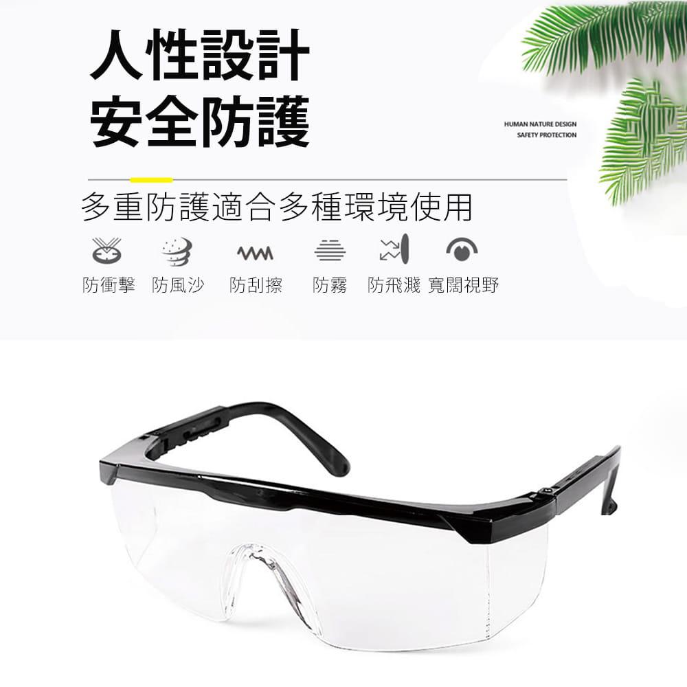 【JAR嚴選】多功能防疫防塵護目鏡(防飛沫) 5