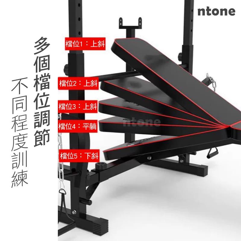 多功能全方位重訓床 重量訓練 健身器材 健身 自主訓練,高低拉+啞鈴椅+舉重架+擴胸機 6
