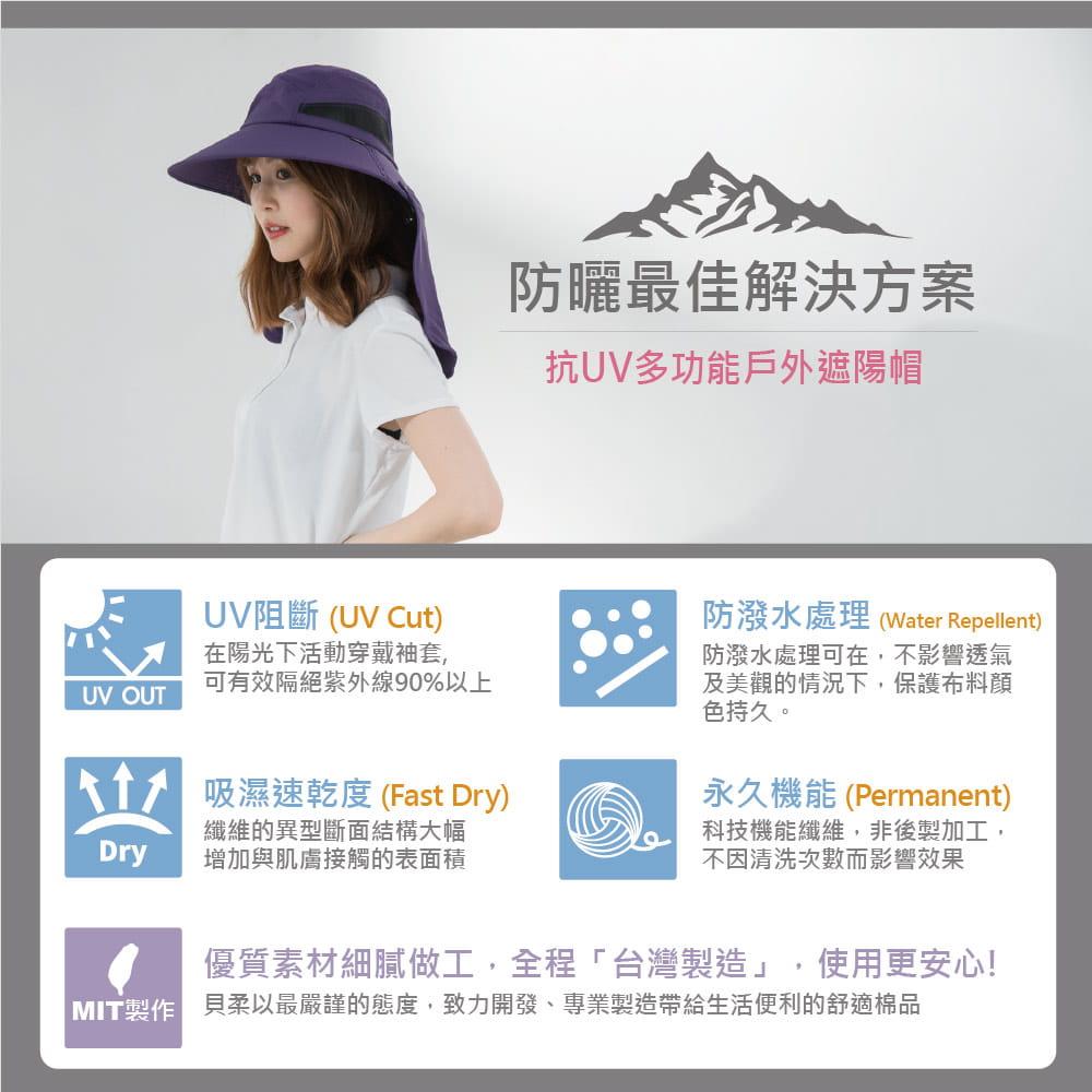 【Peilou】UPF50+多功能休閒遮陽帽-男女款 20