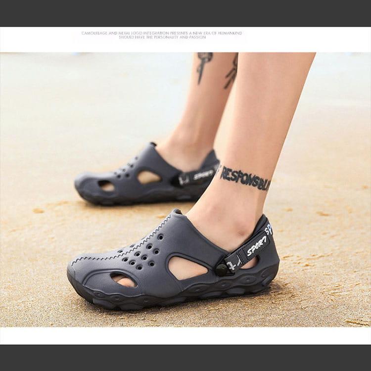 【JAR嚴選】男款厚底運動水陸二用洞洞鞋 9