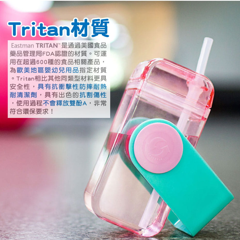 【LASSLEY】美國Tritan隨身U型杯(兒童可用) 3