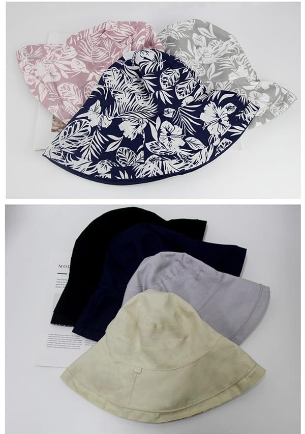 日系雙面拼色摺疊遮陽帽 13