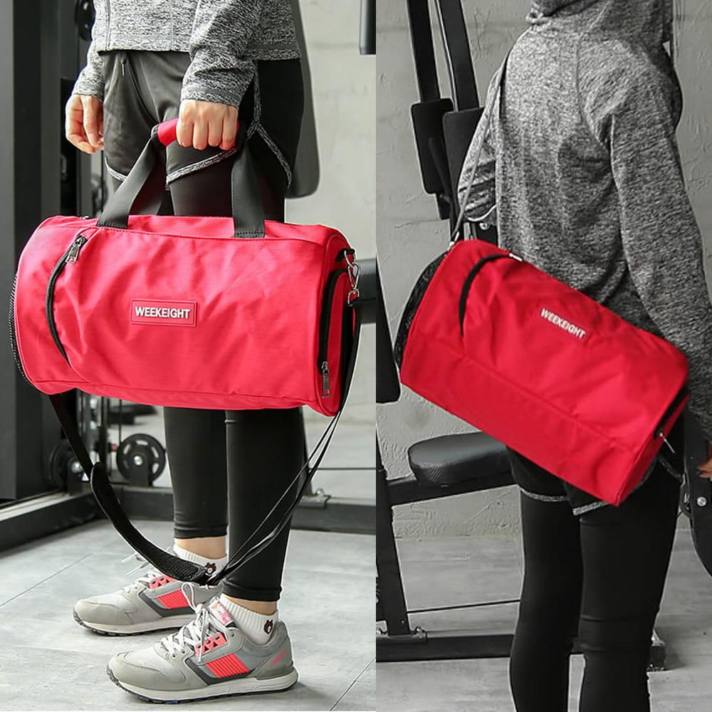 【E.City】大容量圓筒乾溼分離運動健身包 8