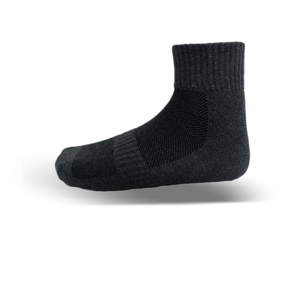 天然棉系列-毛巾厚底短襪(黑) 2