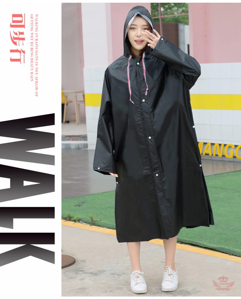多功能時尚雨衣-英倫風收縮繩設計 多種穿法 可背背包 5