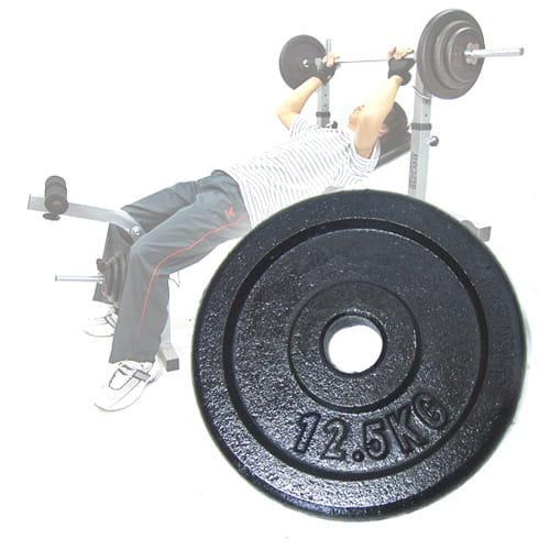 12.5KG傳統鑄鐵槓片 (單片12.5公斤槓片.槓鈴片.啞鈴) 0