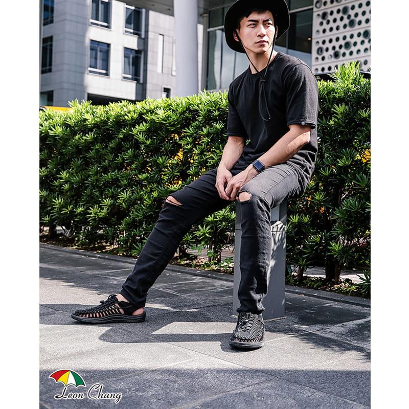 【Leon Chang】【LC雨傘】 編織運動涼鞋 2