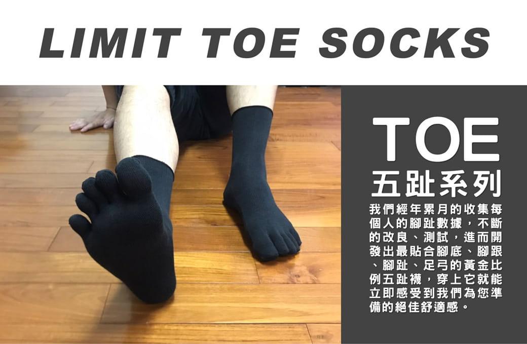 【力美特機能襪】專業五趾襪《4雙入》 2