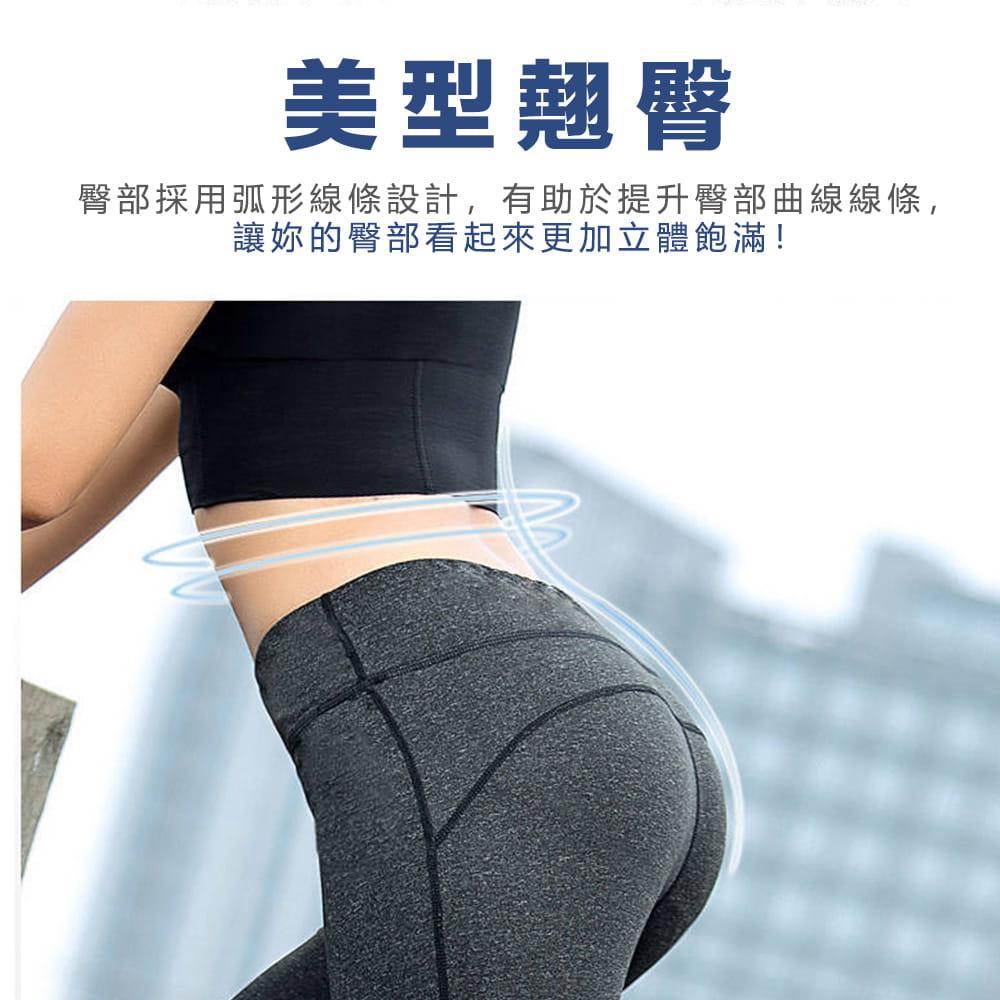 【JAR嚴選】高腰提臀瑜珈健身速乾透氣緊身彈力運動七分褲 1