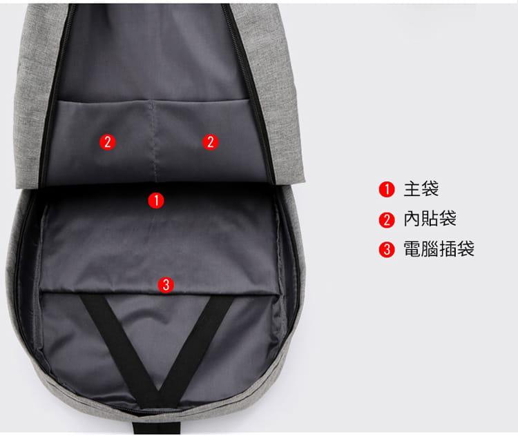 【JAR嚴選】防盜耐磨可充電式多功能雙肩電腦包 14