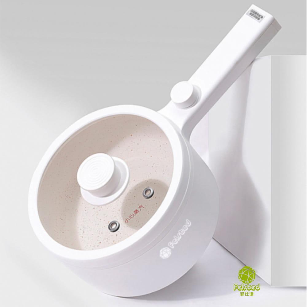 【BSMI認證 買單鍋送蒸籠】菲仕德多功能電煮鍋F-188 R3D593(贈蒸籠) 16