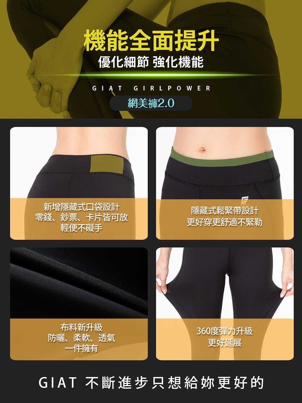【GIAT】台灣製UV排汗機能壓力褲(網美2.0升級款) 9
