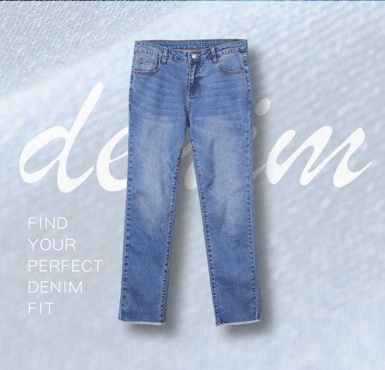 【iFit】【磁気專科】磁石牛仔褲-直筒抽鬚款 11
