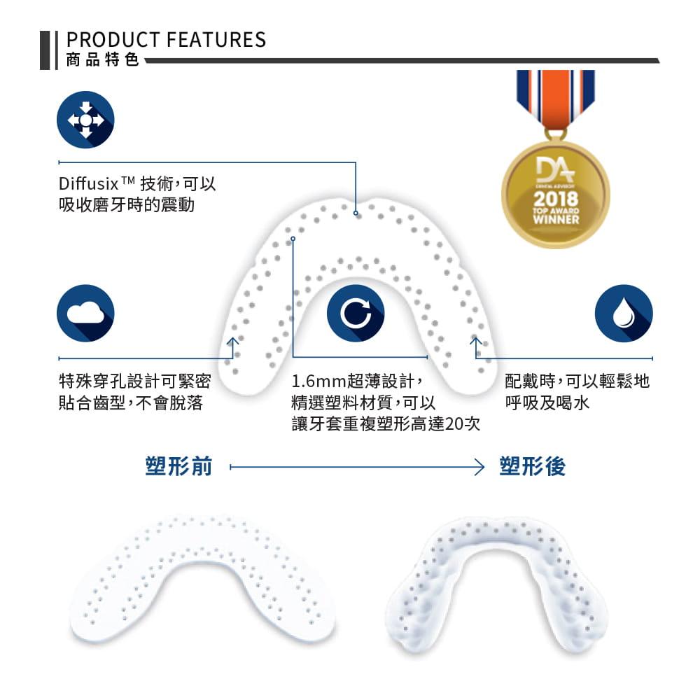 【SOVA】 AERO 專業防磨牙牙套 ◆ 護牙套 睡眠 夜間防護 夜間磨牙 護齒 成人 美國製 5