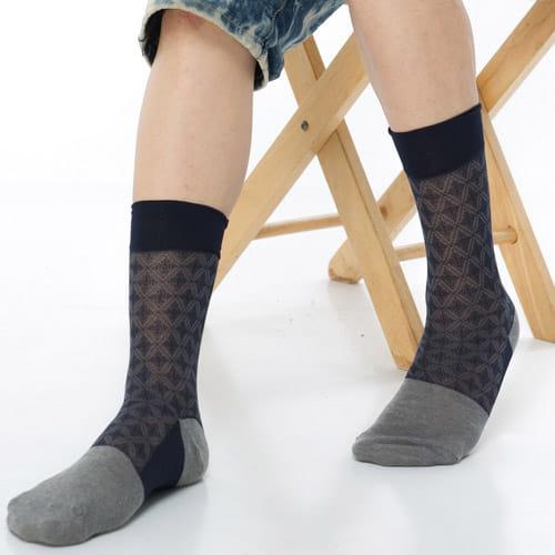 【KEROPPA可諾帕】奈米竹炭絲光棉紳士男襪x2雙C90008 4