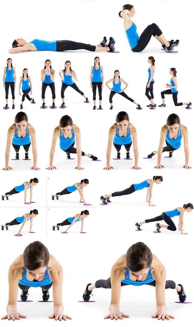 附收納袋 運動滑盤 滑板墊 居家健身 瑜珈 核心 有氧 肌耐力 4