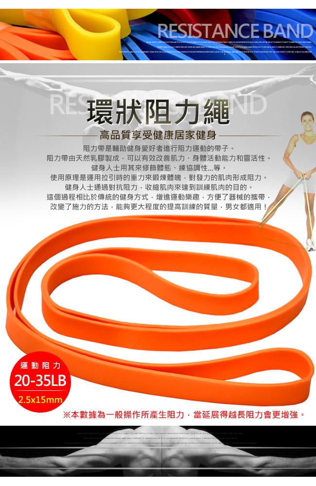 台灣製造35磅大環狀彈力帶   (LATEX乳膠阻力繩.手足阻力帶) 1