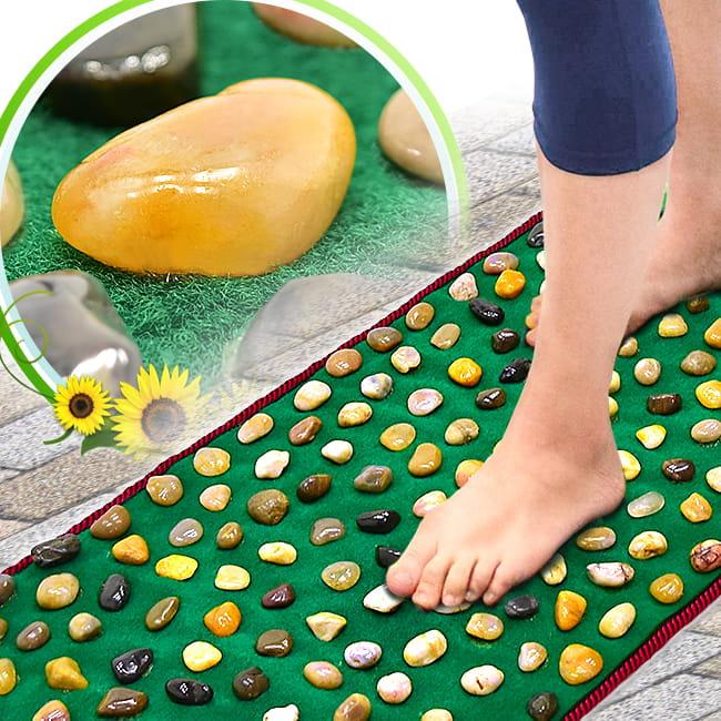 天然鵝卵石路健康步道     雨花石腳底按摩墊