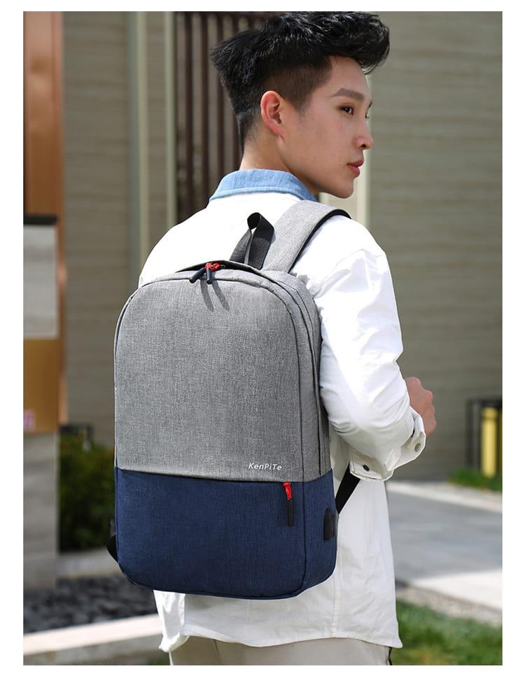 【JAR嚴選】防盜耐磨可充電式多功能雙肩電腦包 17