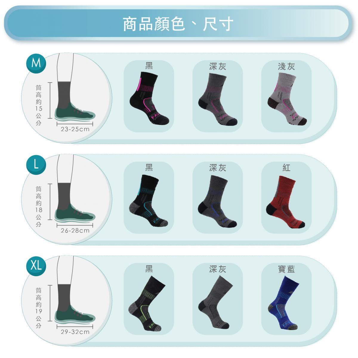 【FAV】止滑加厚保暖登山襪 6