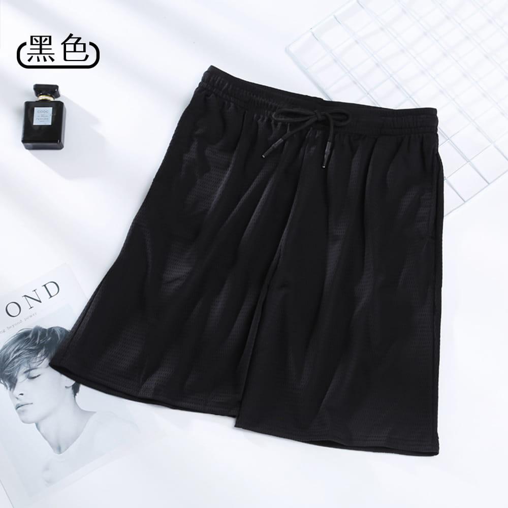 【NEW FORCE】冰涼超透氣抽繩彈性男運動短褲-2色可選 9