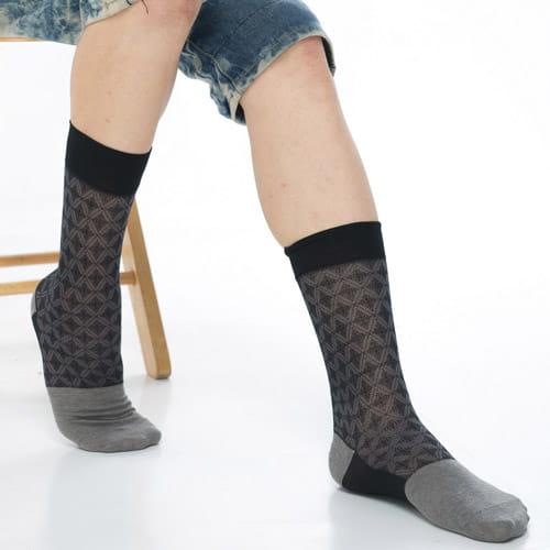 【KEROPPA可諾帕】奈米竹炭絲光棉紳士男襪x2雙C90008 1