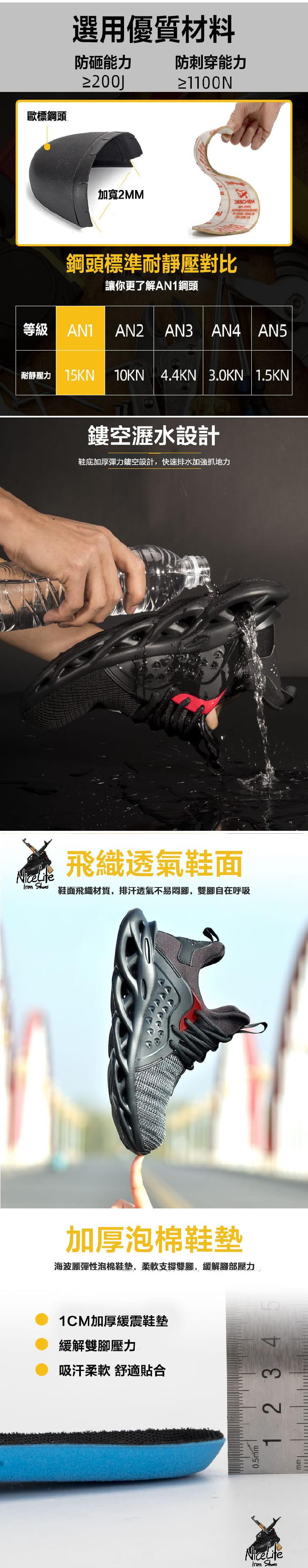 【尼斯生活】黑彈簧機能鋼鐵鞋 7
