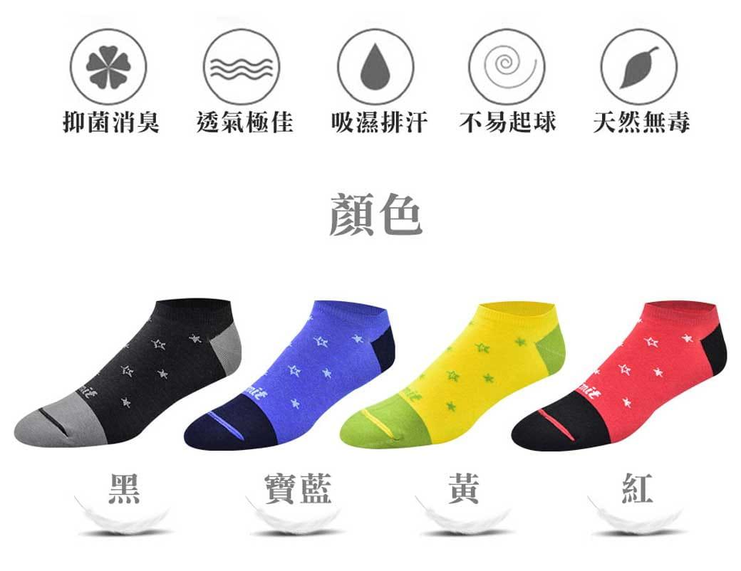 【力美特機能襪】星星船型襪(寶藍) 3