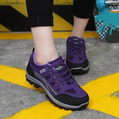 新款登山鞋秋冬季戶外女徒步鞋防滑耐磨旅遊鞋爬山防水運動女鞋 0