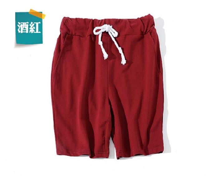 棉質休閒運動短褲 薄款透氣 抽繩男女款 舒適健身褲 11