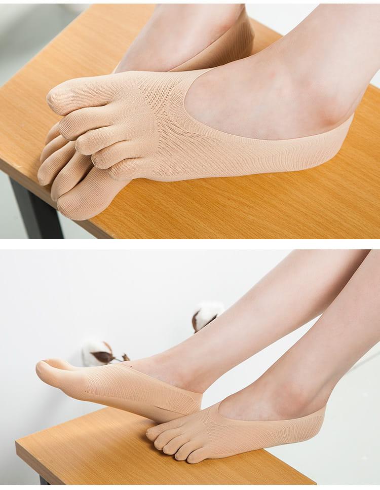 舒適透氣五指船襪 9