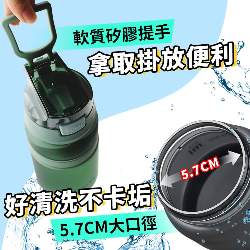 進口Tritan材質運動吸管水壺 6