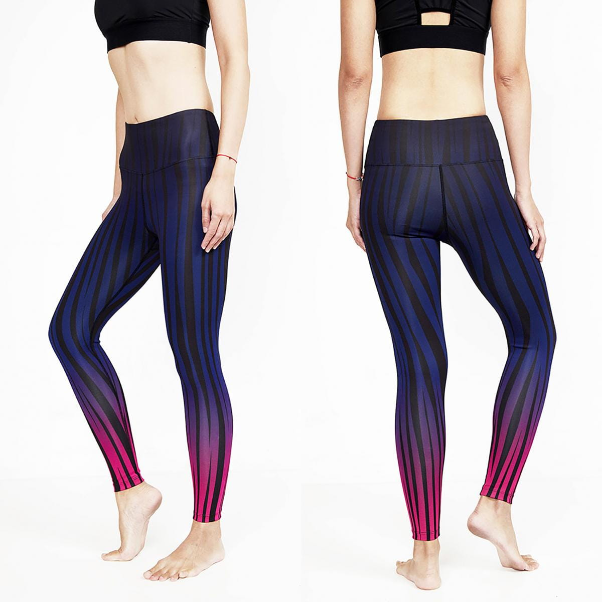 【ELASTI】典莎瑜珈褲(碘紗抗菌除臭機能)-迷幻斑馬 2