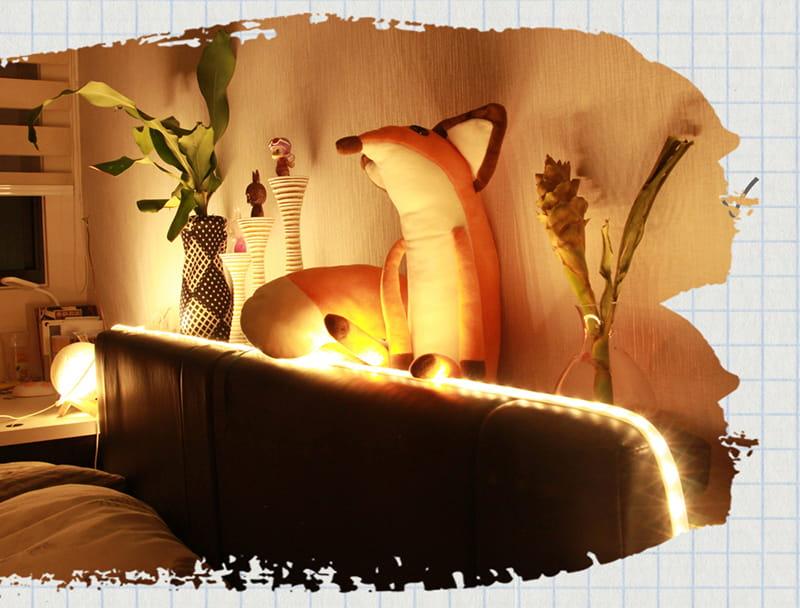 【RONEVER】暖光60顆燈珠LED防水燈條-1M 10