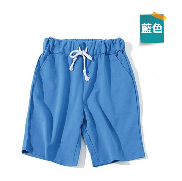 棉質休閒運動短褲 薄款透氣 抽繩男女款 舒適健身褲 14