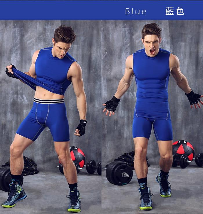 【Un-Sport高機能】專業吸排男用緊身五分褲-超值二入組(路跑/健身/籃球) 8