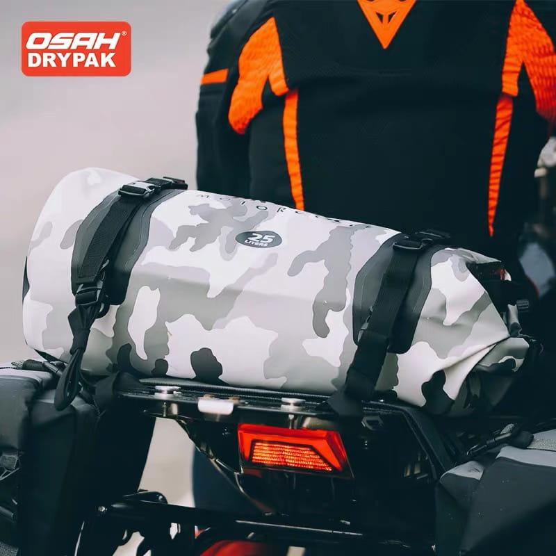 【OSAH時尚防水騎行包 25L】可當雙肩後背包使用哦!