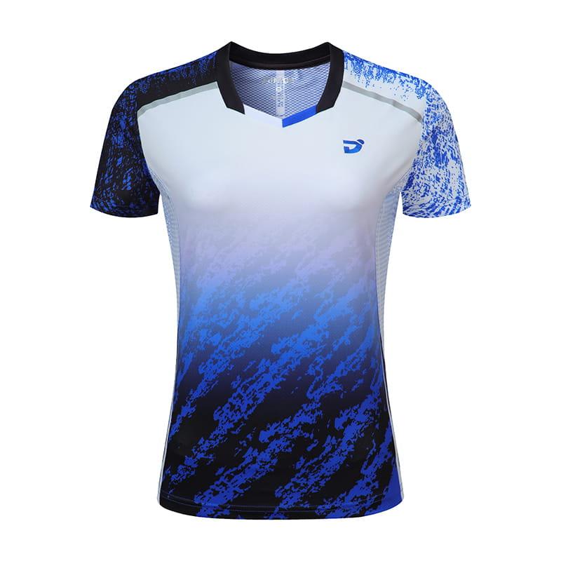 【JNICE】韓版晨曦羽球競技衫(女版)-白藍 0