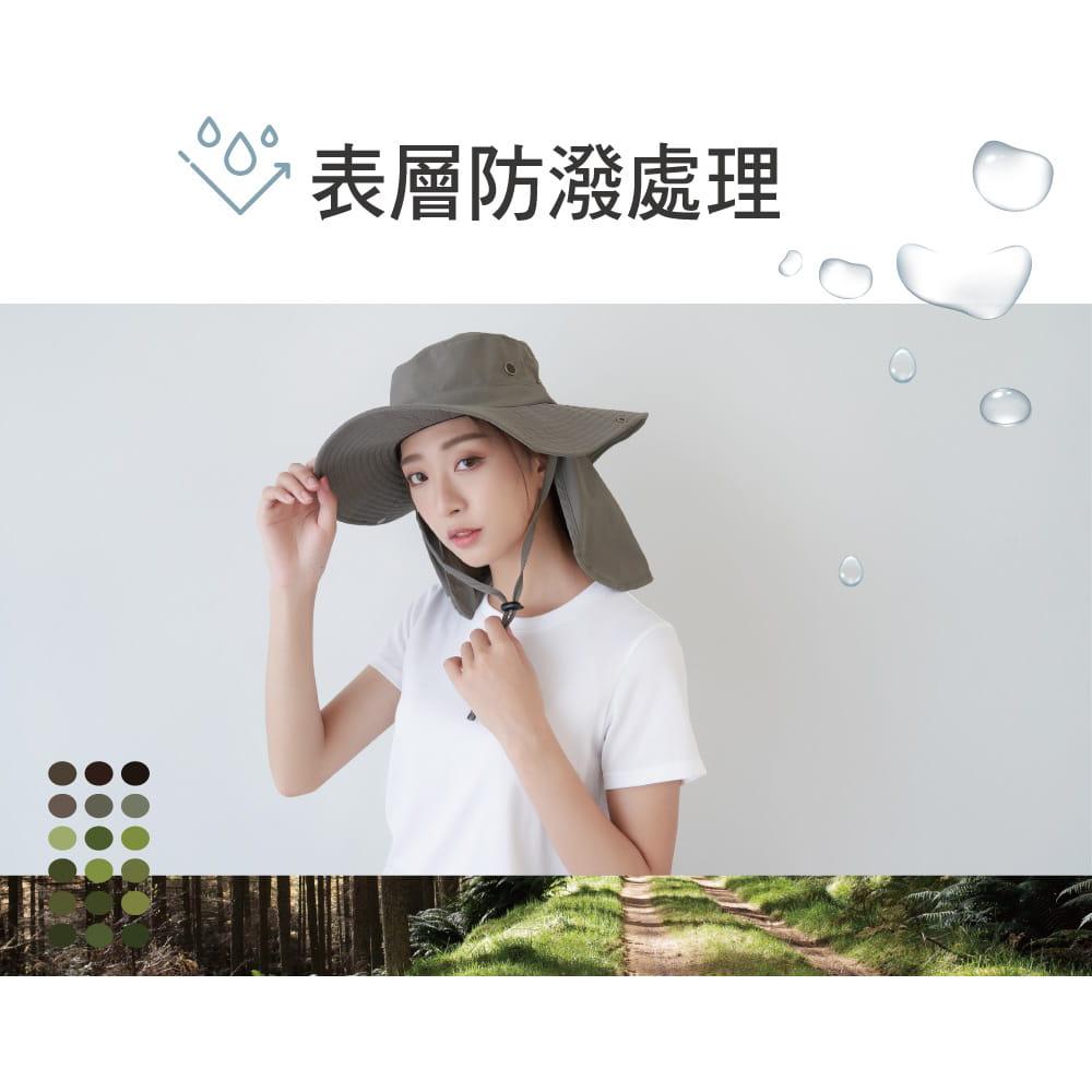 【Peilou】UPF50+多功能休閒遮陽帽-男女款 2