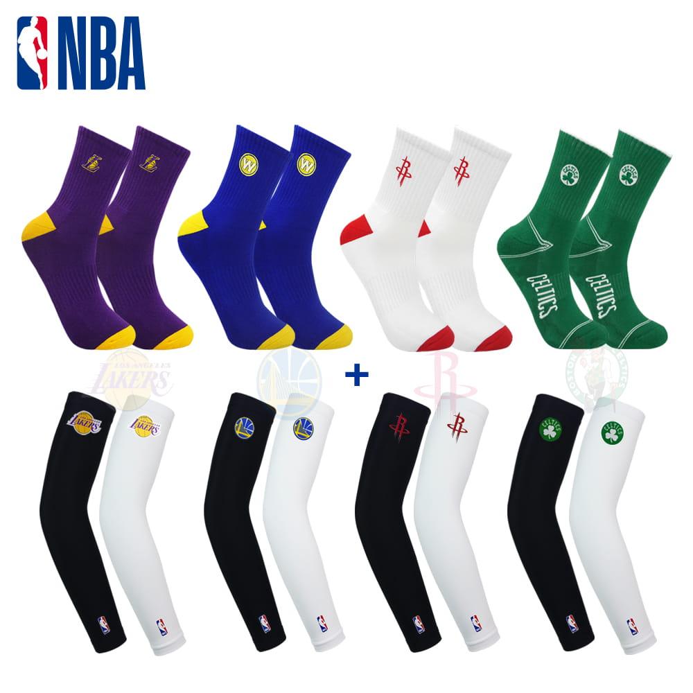 【NBA】 球隊款袖襪組合款 0