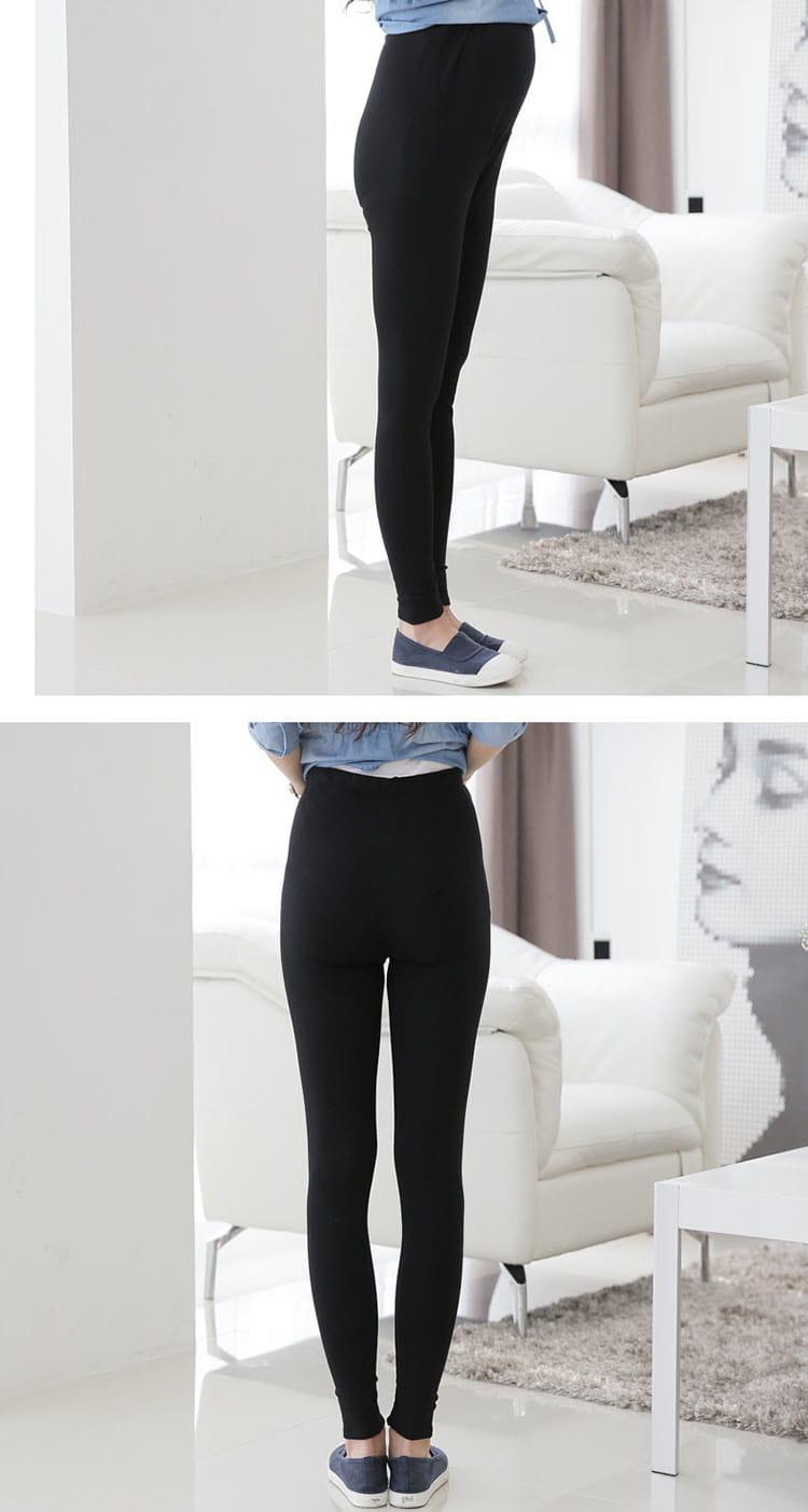 大尺碼全棉高彈力超顯瘦調節式舒適長褲/孕婦褲 10