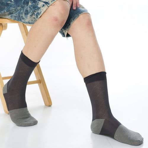 【KEROPPA可諾帕】奈米竹炭絲光棉紳士男襪x2雙C90006 0